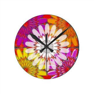 WHITE bright SUN Chakra Sunflower Yoga Mandala FUN Wall Clocks