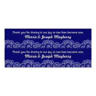 White Charming Swirls Bookmark Favours Rack Card