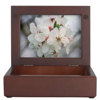 White Cherry Blooms Keepsake Box