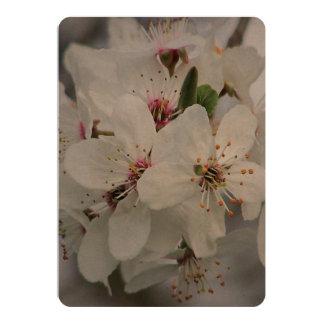 White Cherry Flower 13 Cm X 18 Cm Invitation Card