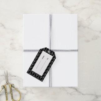White Chevron Black Background Modern Chic Gift Tags