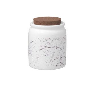 White Chipboard Candy Jar