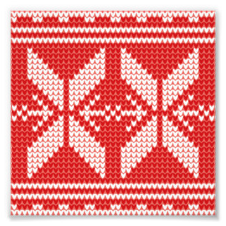 White Christmas Abstract Jumper Knit Pattern Art Photo
