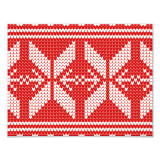 White Christmas Abstract Jumper Knit Pattern Photo Print