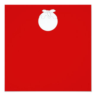 White Christmas Pudding, on Red. 13 Cm X 13 Cm Square Invitation Card