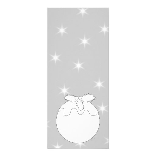 White Christmas Pudding with Stars. Custom Announcements