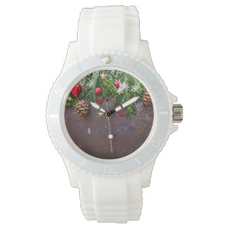 WHITE CHRISTMAS SILICON WATCH FOR WOMEN