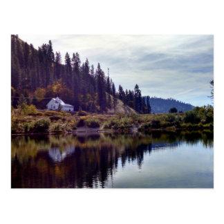 """""""White church"""" Postcard"""