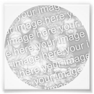 White Circle Frame Photo