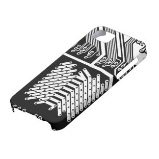 White Circuit Board Oh My! iPhone 5 Covers