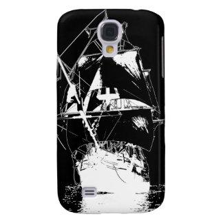 White Classic Ship Galaxy S4 Case