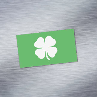 White Clover Leaf Magnetic Business Cards