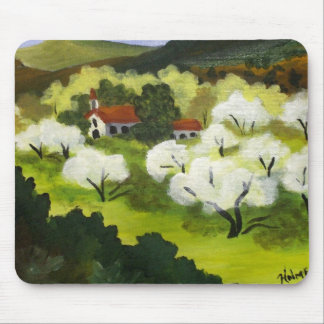 White Country Church Mouse Pad