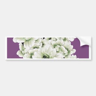 White Dahlias Lavender Gifts by Sharles Bumper Sticker