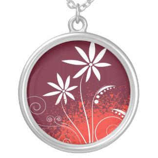 White Daisies on Red and Orange Custom Jewelry