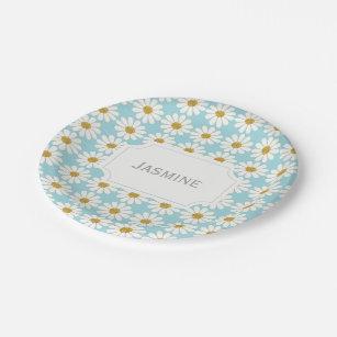 White Daisy Plates | Zazzle.co.nz