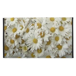 White Daisy Mum Floral iPad Folio Case