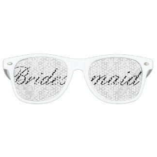 White Damask Bridesmaid Bachelorette Party Glasses Sunglasses