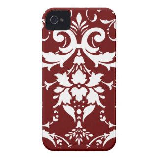 White  damask pattern  Blackberry Bold Case