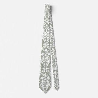 White Damask Tie