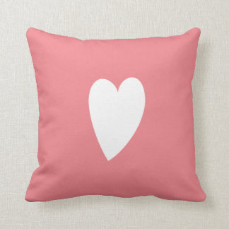 WHITE DOODLE HEART | PILLOW THROW CUSHIONS