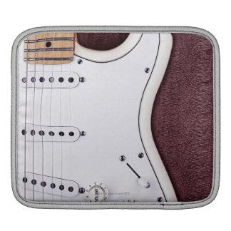 White Electric Guitar 2 iPad Sleeve