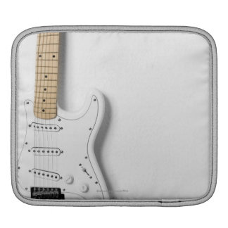 White Electric Guitar 3 iPad Sleeve