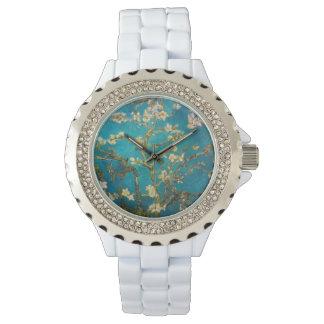 White Enamel Custom Vintage Art Wrist Watches