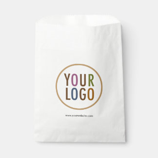 White Favour Bags with Custom Logo Branding in