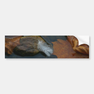 White Feather Bumper Sticker