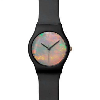 White Fire Opal Dial Wristwatch