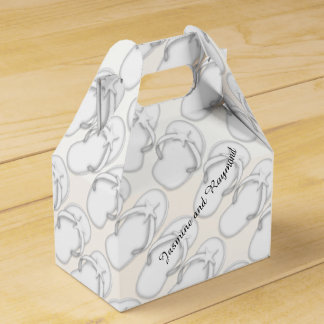 White Flip Flops Gable Favor Box Favour Box
