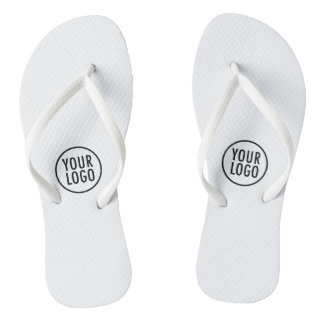 White Flip Flops with Logo for Resorts Spas Hotels Thongs