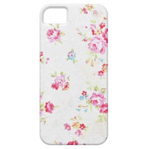 White Floral Shabby Chic iPhone 5/5s iPhone 5 Case