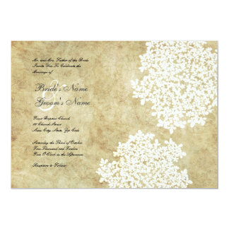White Floral Vintage Wedding Invitations