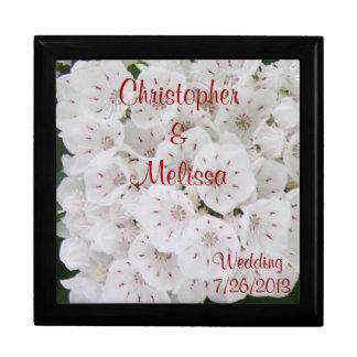 White Floral Wedding Day Keepsake Box CUSTOMIZE IT Jewelry Box