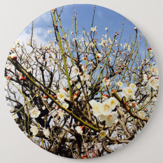 white flower in Japan 6 Cm Round Badge