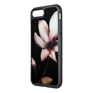 white flower otterbox iphone case