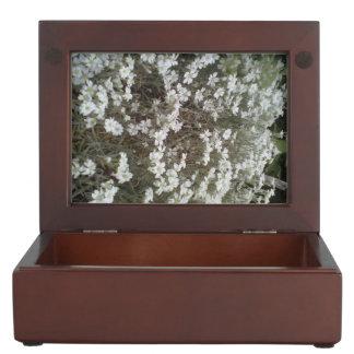 White flower Plant Keepsake Box