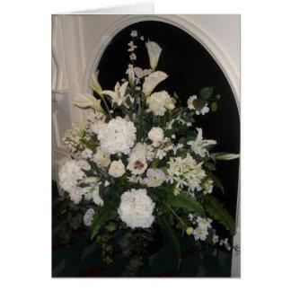 White flower sympathy card