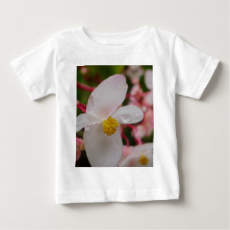 White flower with dew drops baby T-Shirt