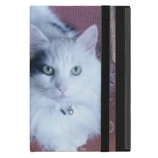 White fluffy cat with attitude iPad mini case