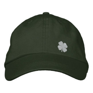 White Four Leaf Clover St. Patrick. - CUSTOMIZABLE Embroidered Baseball Caps