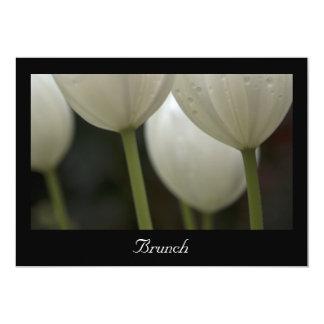 White Garden Tulips Post Wedding Brunch Invitation
