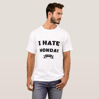 "white gentlemen short-poor T-shirt ""I HATE MONDAY"