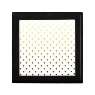 White Gold Polka Dot Gift Box