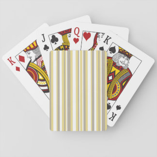 White, Gray and Beige Vertical Stripe Pattern Playing Cards