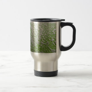 White & Green Rust Travel Mug