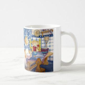 "White handle cup - motive ""Teddybear BREAK nearly  Coffee Mug"