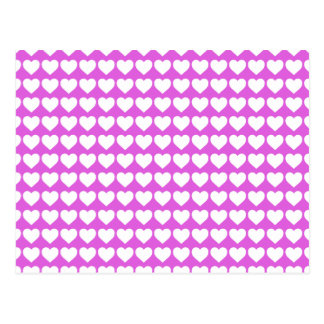White Heart on Lilac Postcard